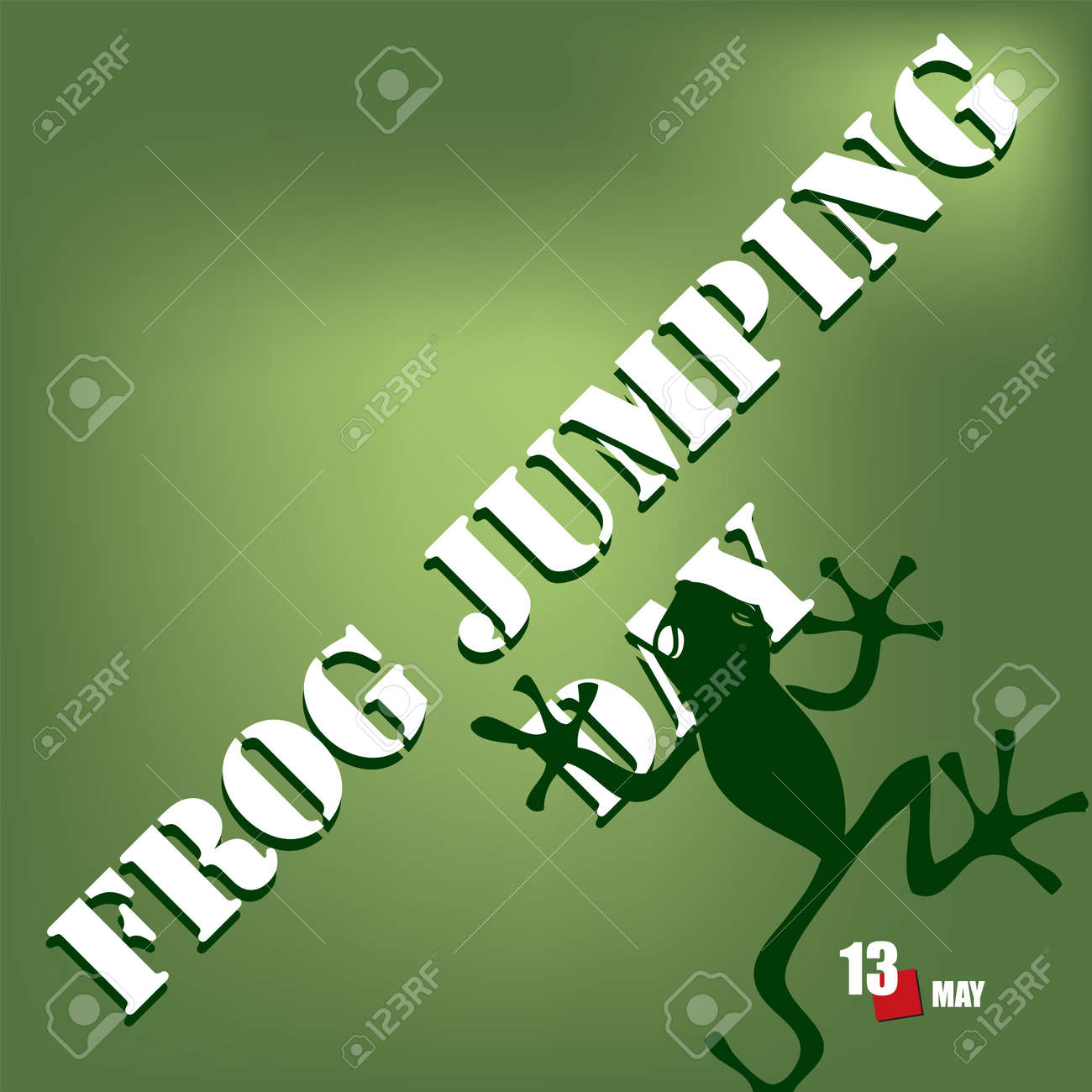 The calendar event is celebrated in may - Frog Jumping Day - 169027970
