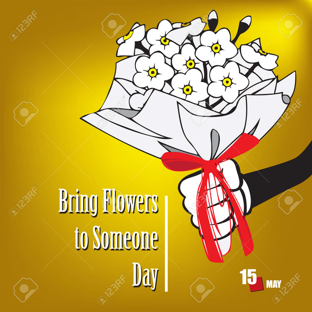 The calendar event is celebrated in may - Bring Flowers To Someone Day - 169027971