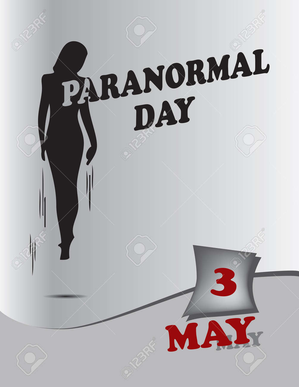 Poster Paranormal Day.Vector illustration for a holiday date in may - 169027993