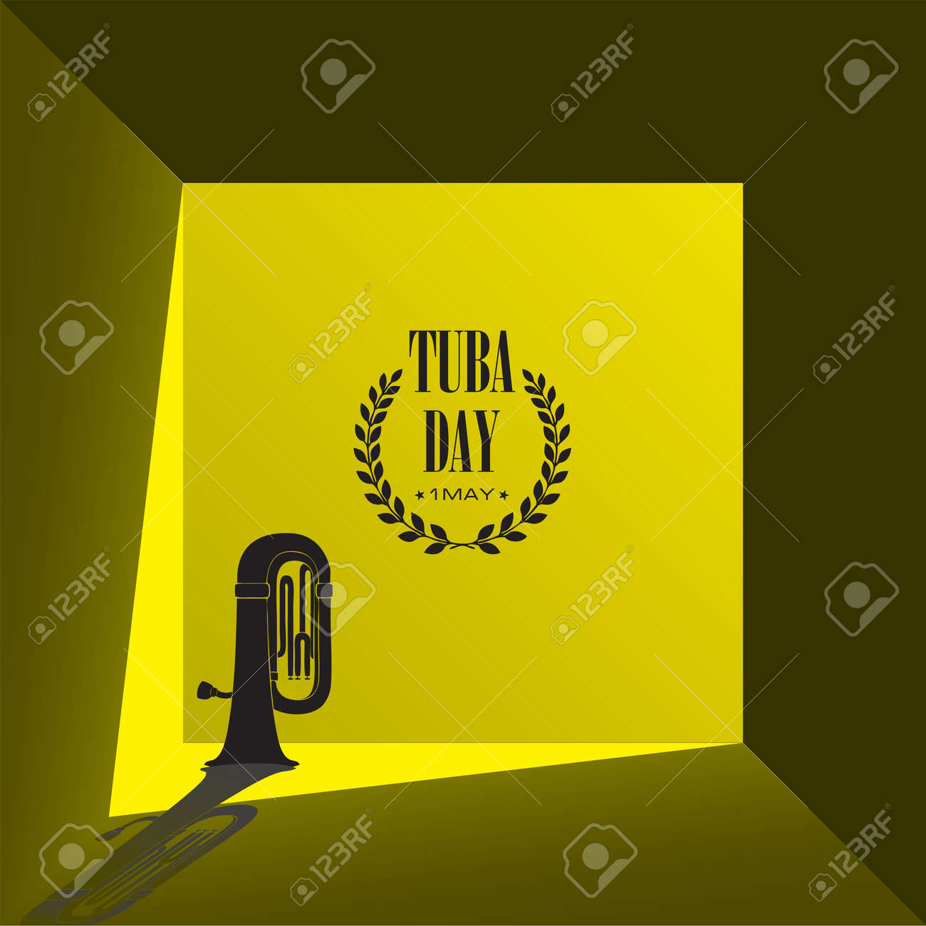 Illustration for design works of the May holiday - Tuba Day - 169441828
