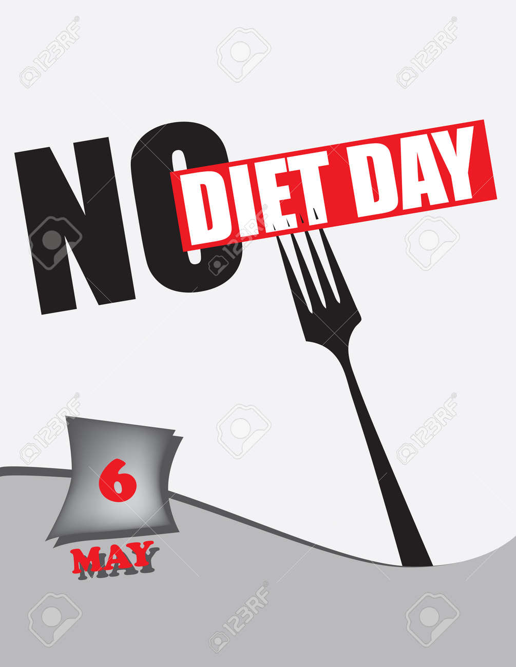 Poster No Diet Day.Vector illustration for a holiday date in may. - 169441831