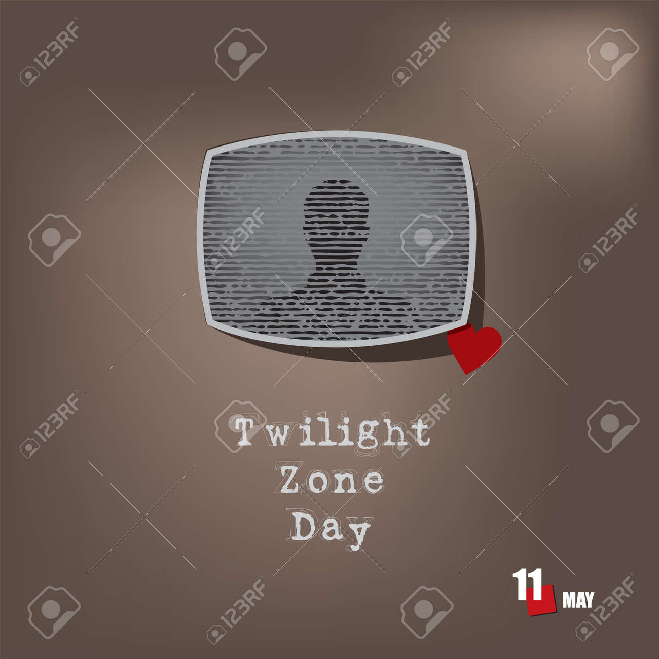 The calendar event is celebrated in may - Twilight Zone Day - 169441838
