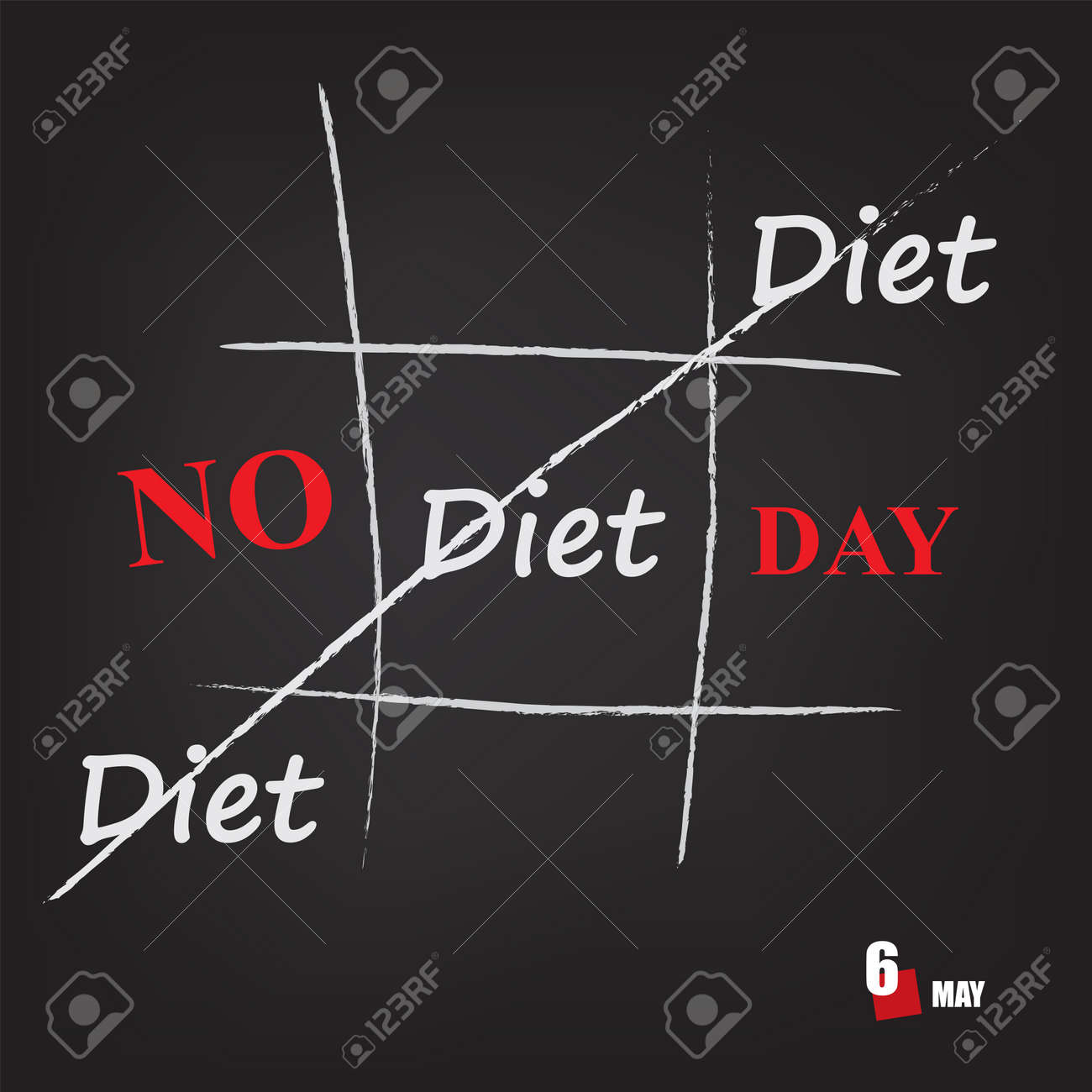The calendar event is celebrated in may - No Diet Day - 169676008