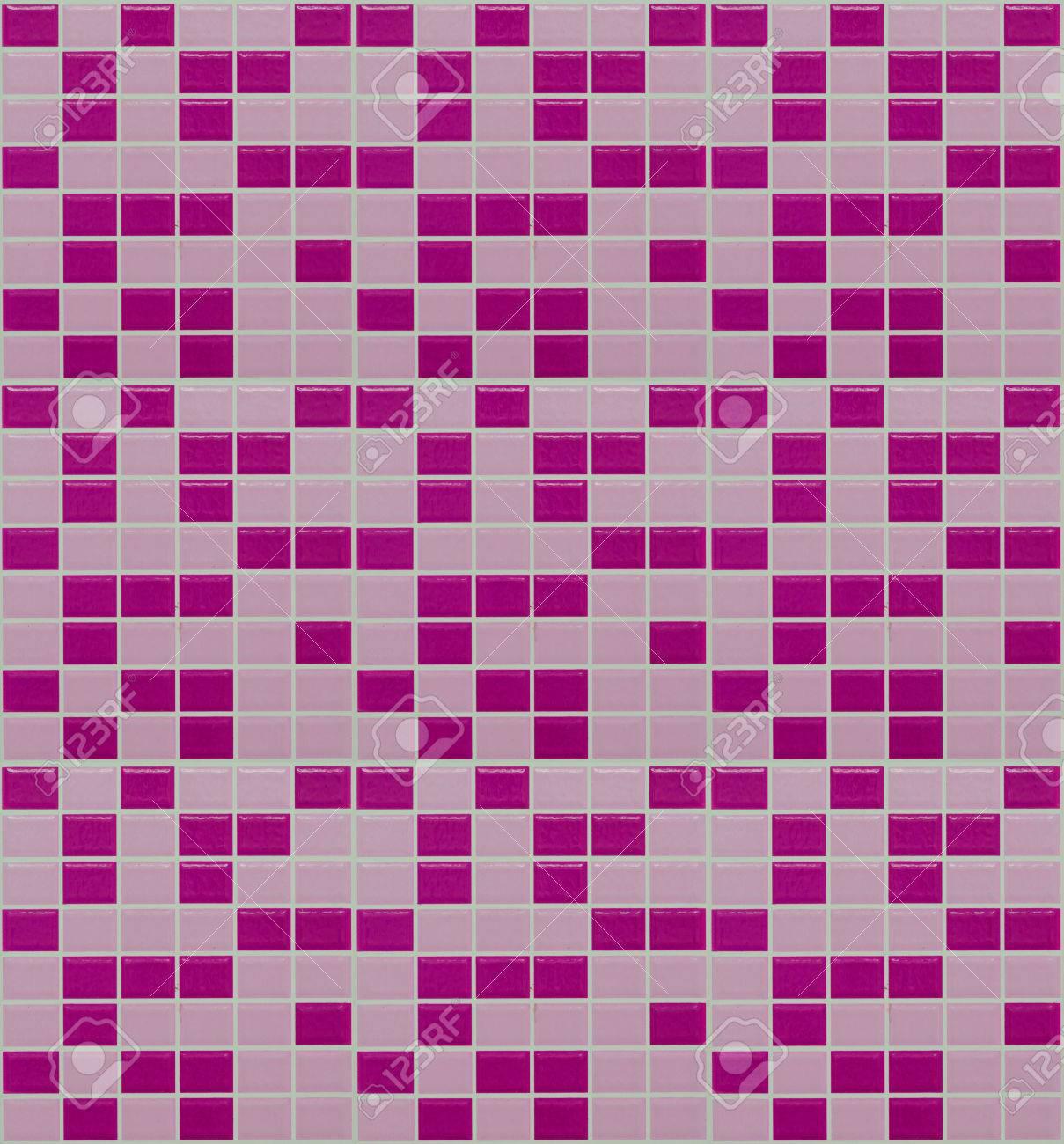 foto de archivo azulejos de mosaico de color rosa