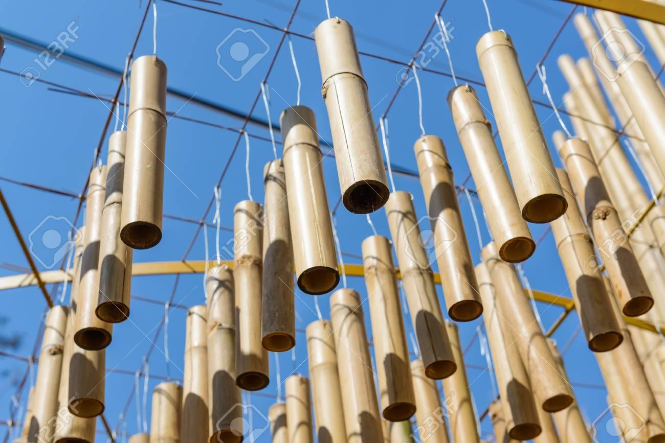 Bambus Dekoration Von Der Decke Hängen Architektonisches Element