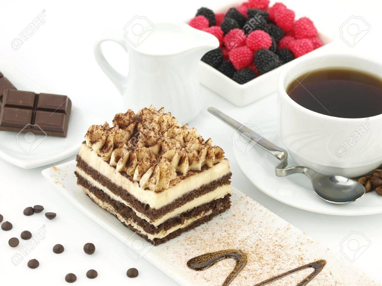 9102780-Tiramisu-dessert-and-a-cup-of-co