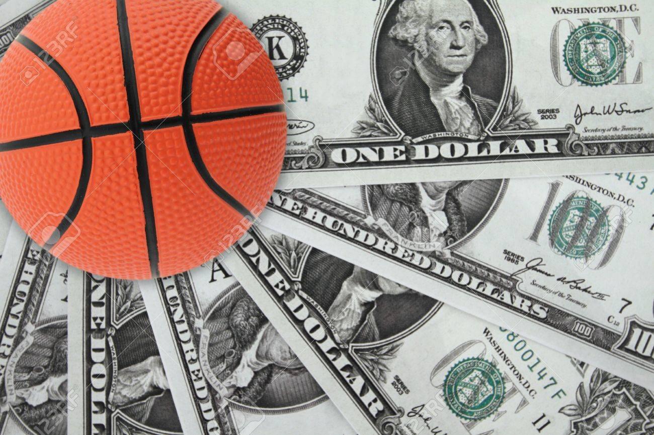 Basket and money Stock Photo - 12687582