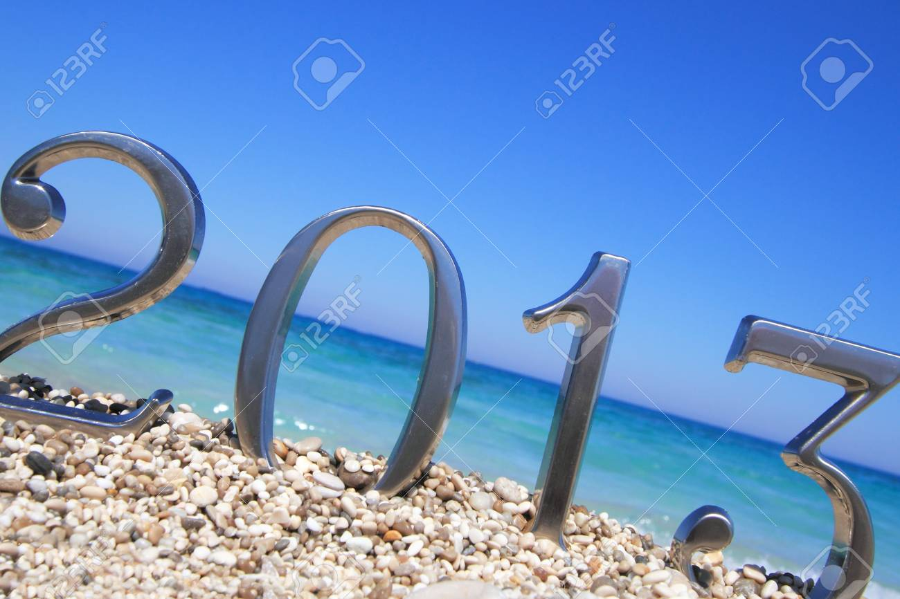 New year 2013 on the beach Stock Photo - 14472140