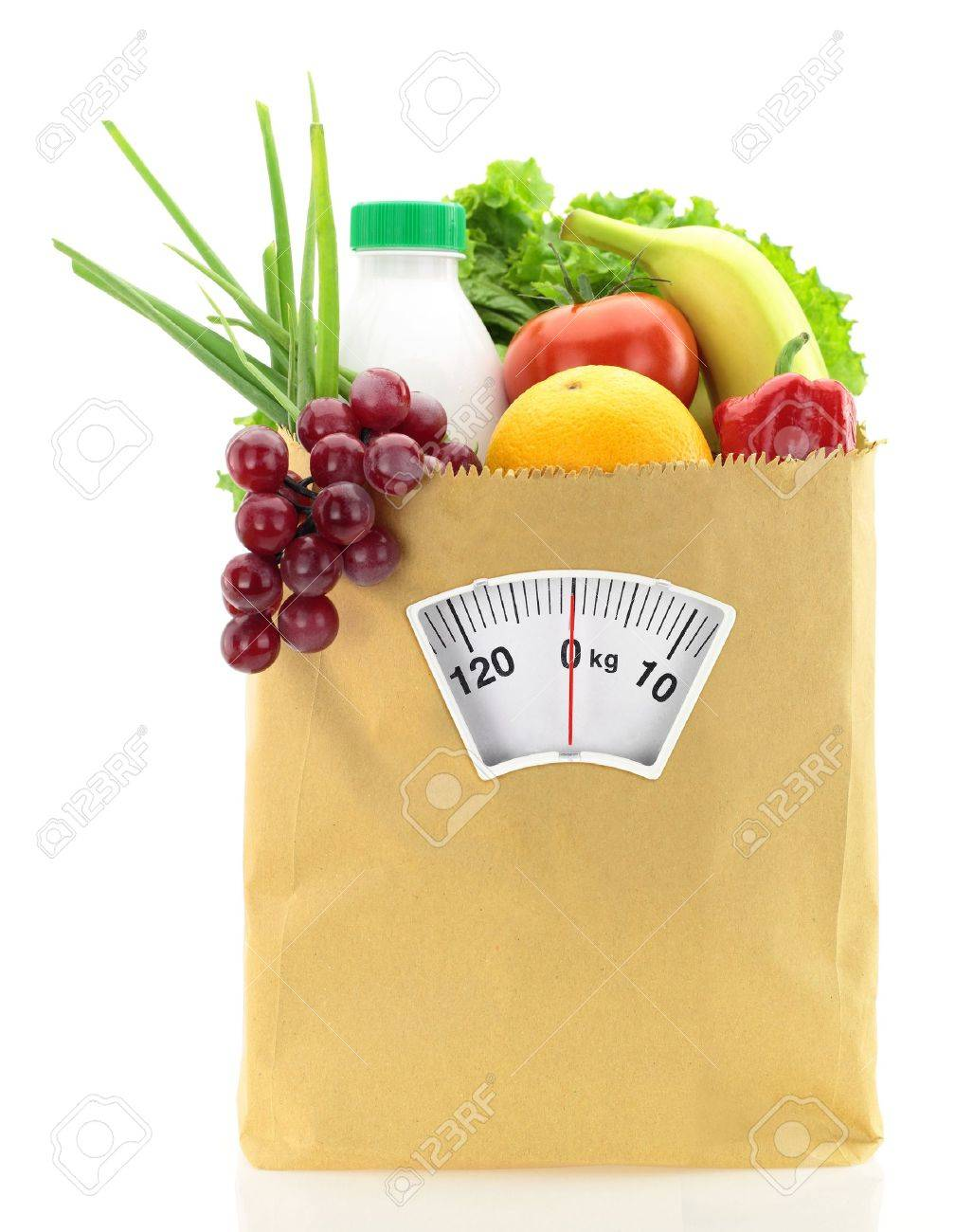 Healthy diet. Fresh food in a paper bag Stock Photo - 15210123