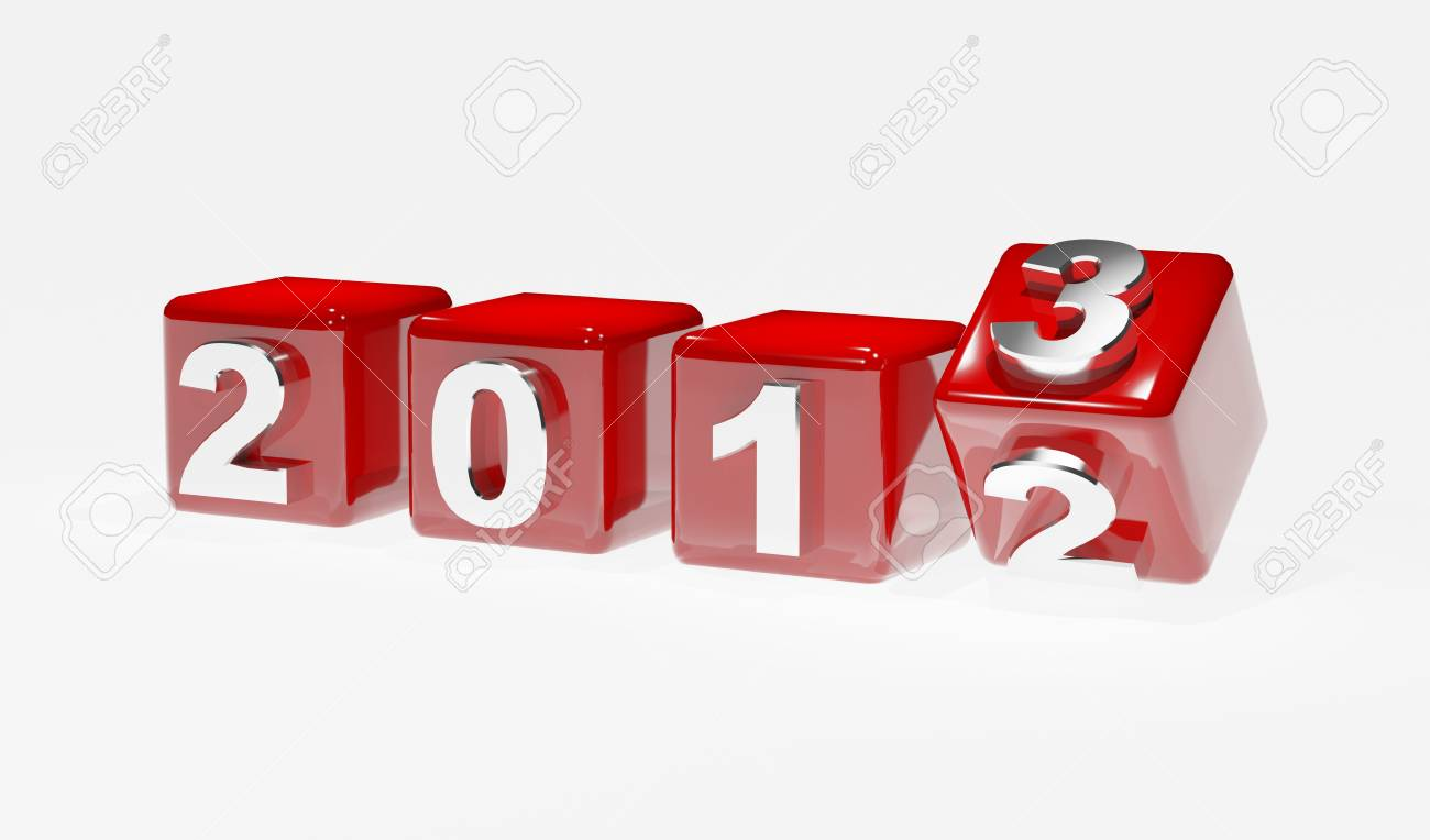 New year 2013 3d cubes Stock Photo - 15117052