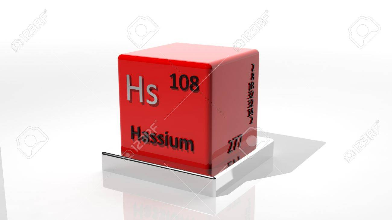 Hassium,  3d chemical element of the periodic table Stock Photo - 17550071