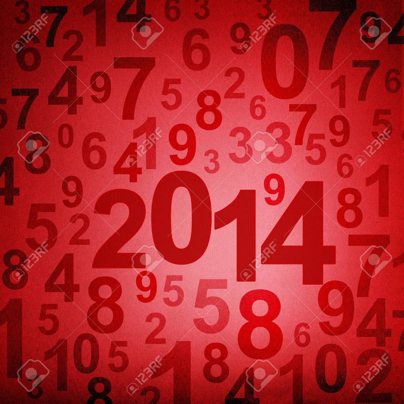 New year 2014 on numbers fabric background Stock Photo - 17721529