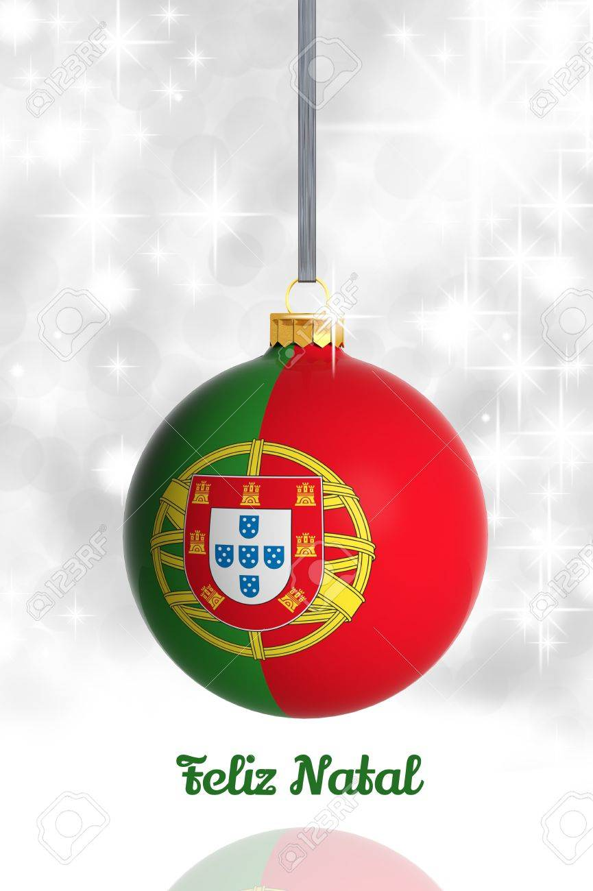 Christmas In Portugal.Merry Christmas From Portugal Christmas Ball With Flag