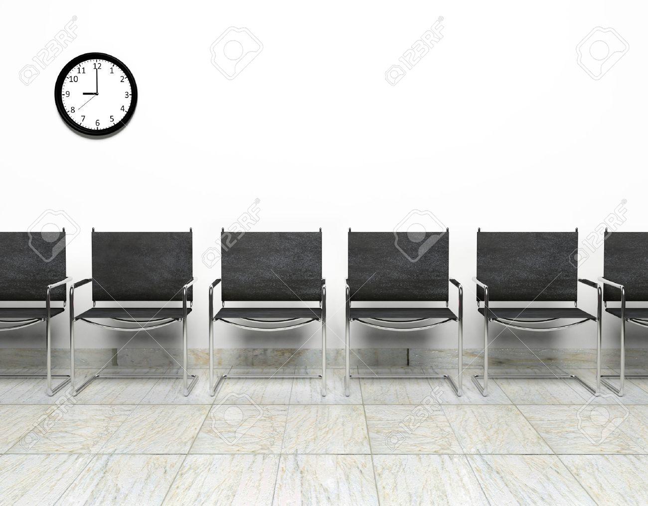 Reihe Der Stühle Im Wartezimmer Lizenzfreie Fotos Bilder Und Stock