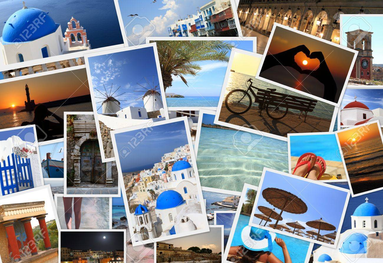 Collection of Greek islands photos Stock Photo - 30045130