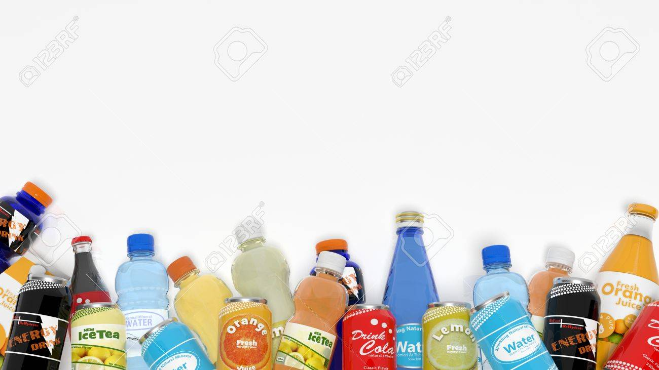 Group of various refreshments isolated on white Stock Photo - 35916417