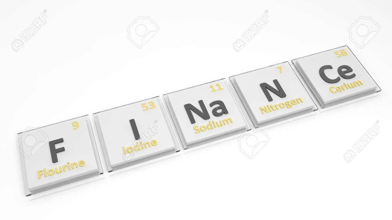 Periodic Table Of Elements Symbols Used To Form Word Finance