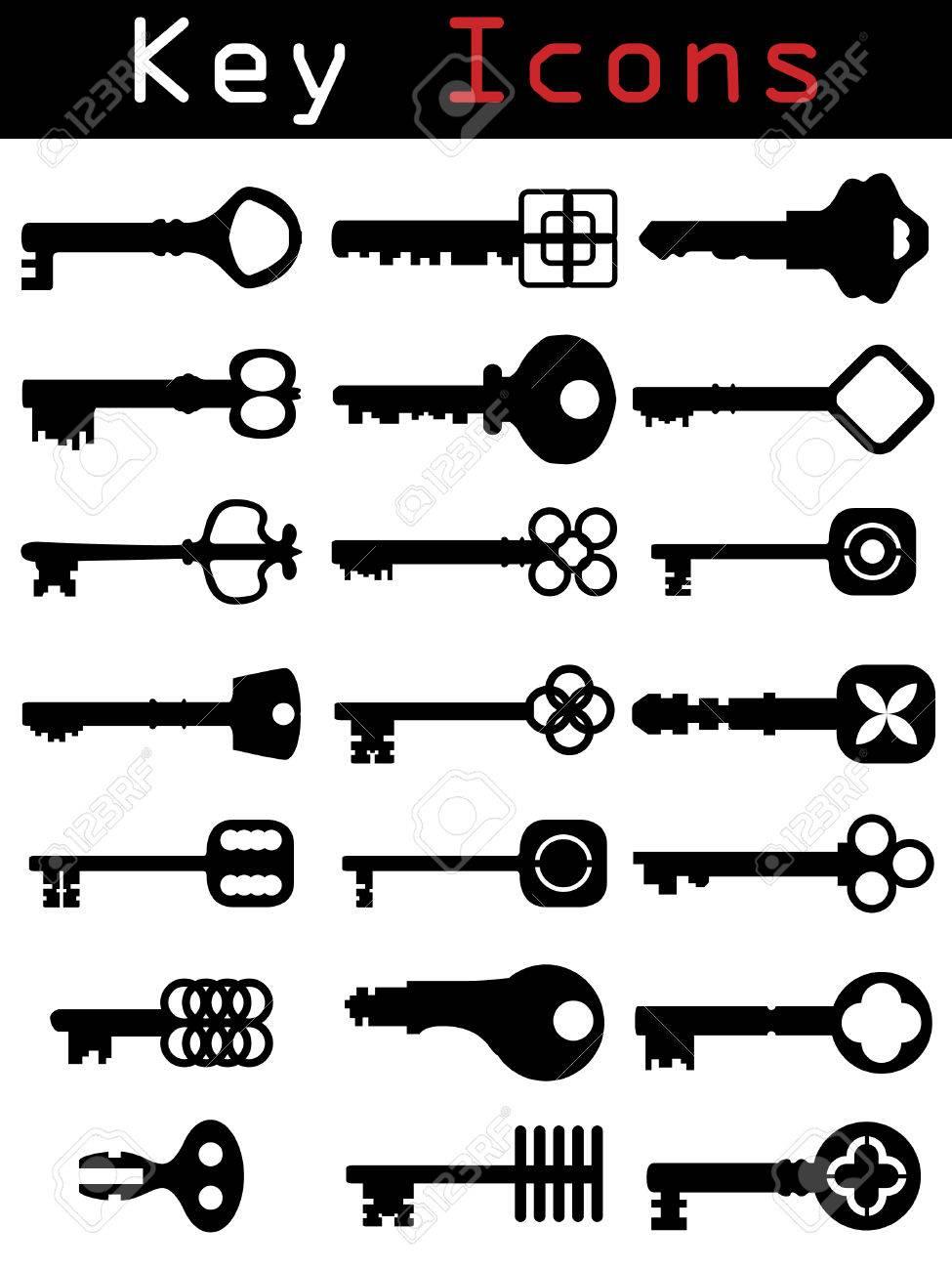 Key Icon set Stock Vector - 6620642