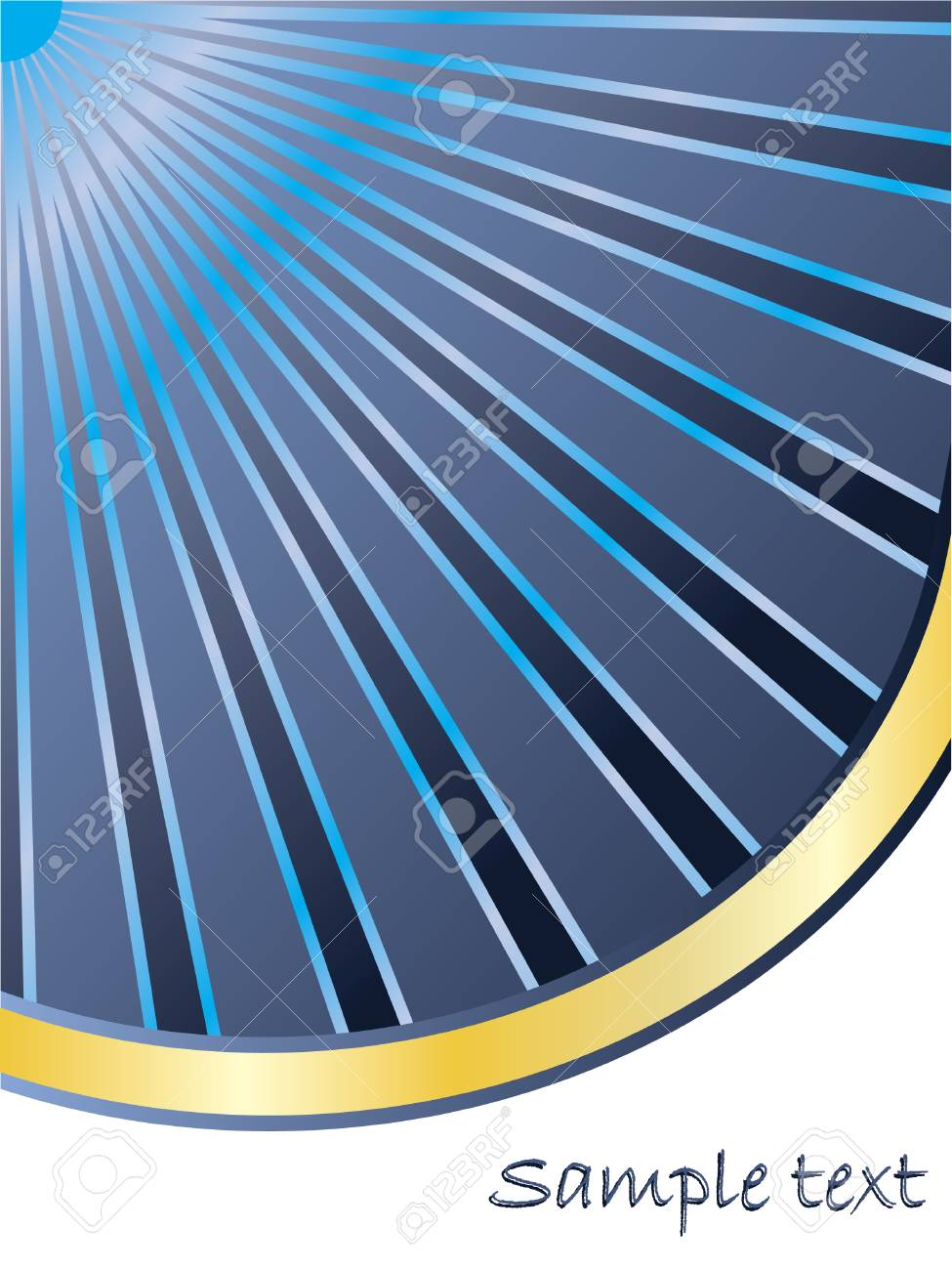 Blue rays heading for gold Stock Vector - 6620773