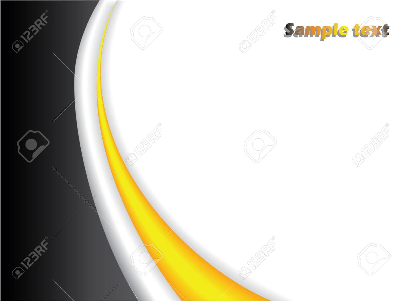 Black and yellow background Stock Vector - 6655514
