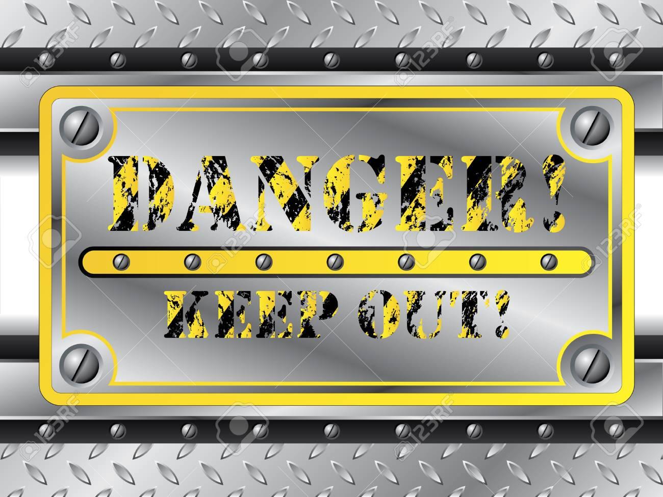 Danger Plate Stock Vector - 6655583