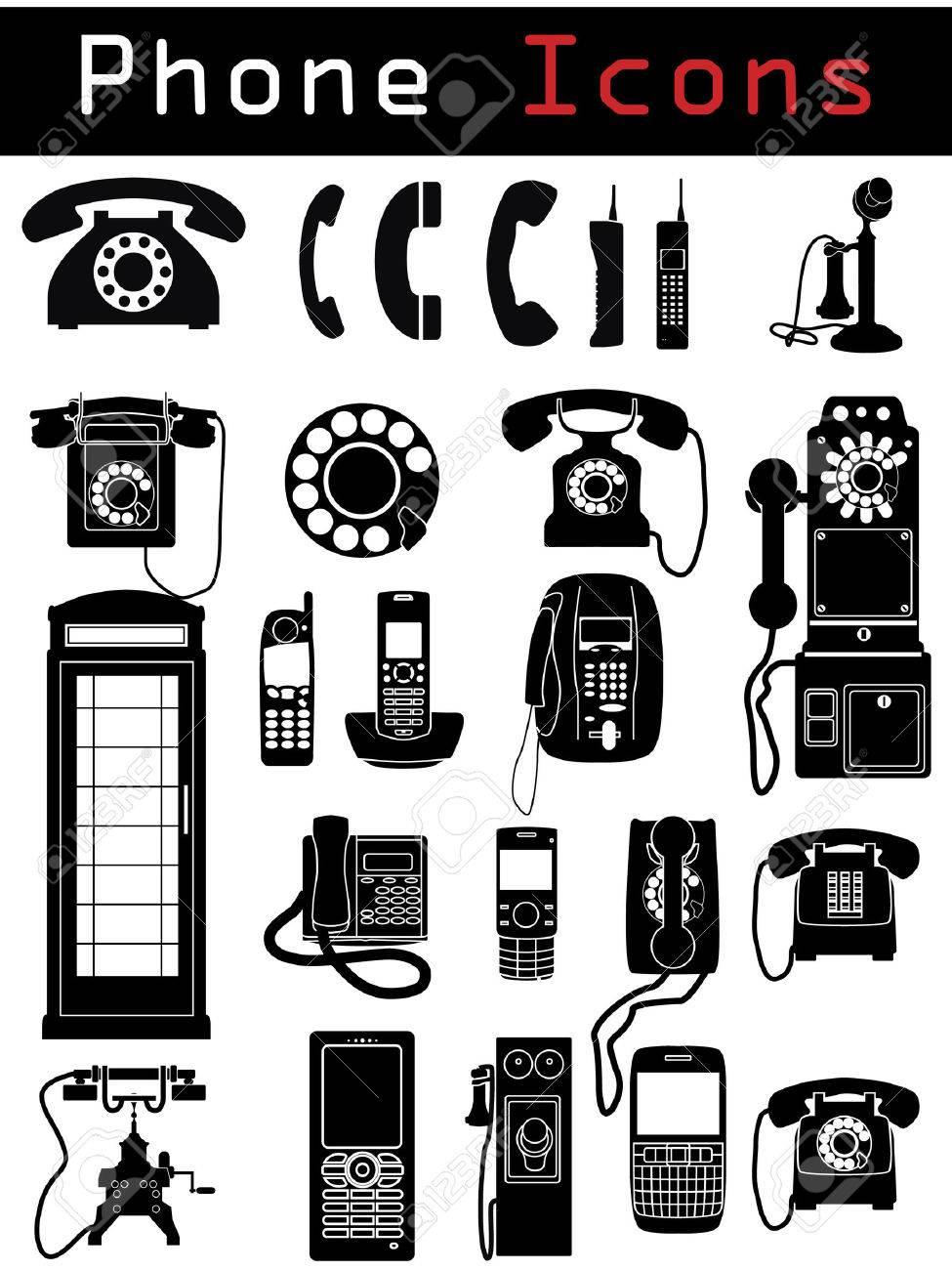 Phone Icons Stock Vector - 6716828