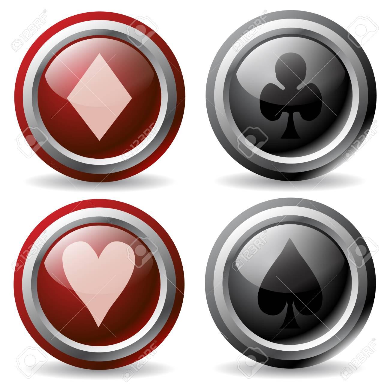 Poker Buttons Stock Vector - 6716810