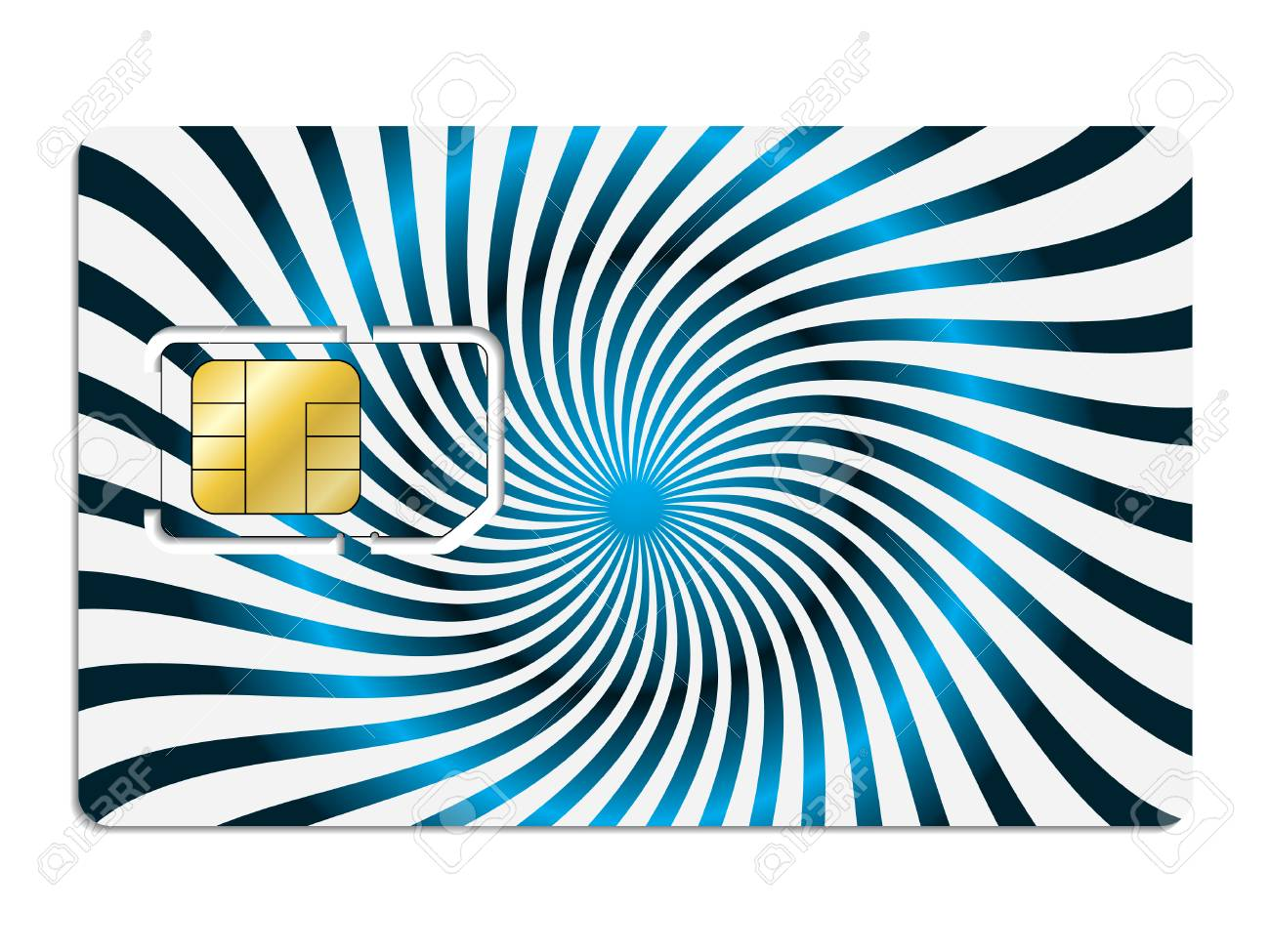 Twirling sim card Stock Vector - 6688302