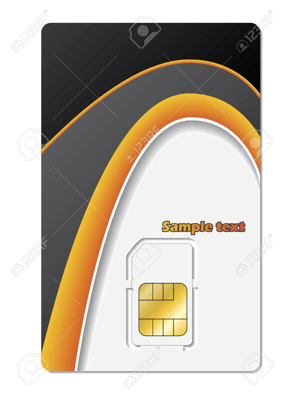 Sim card Stock Vector - 6688305