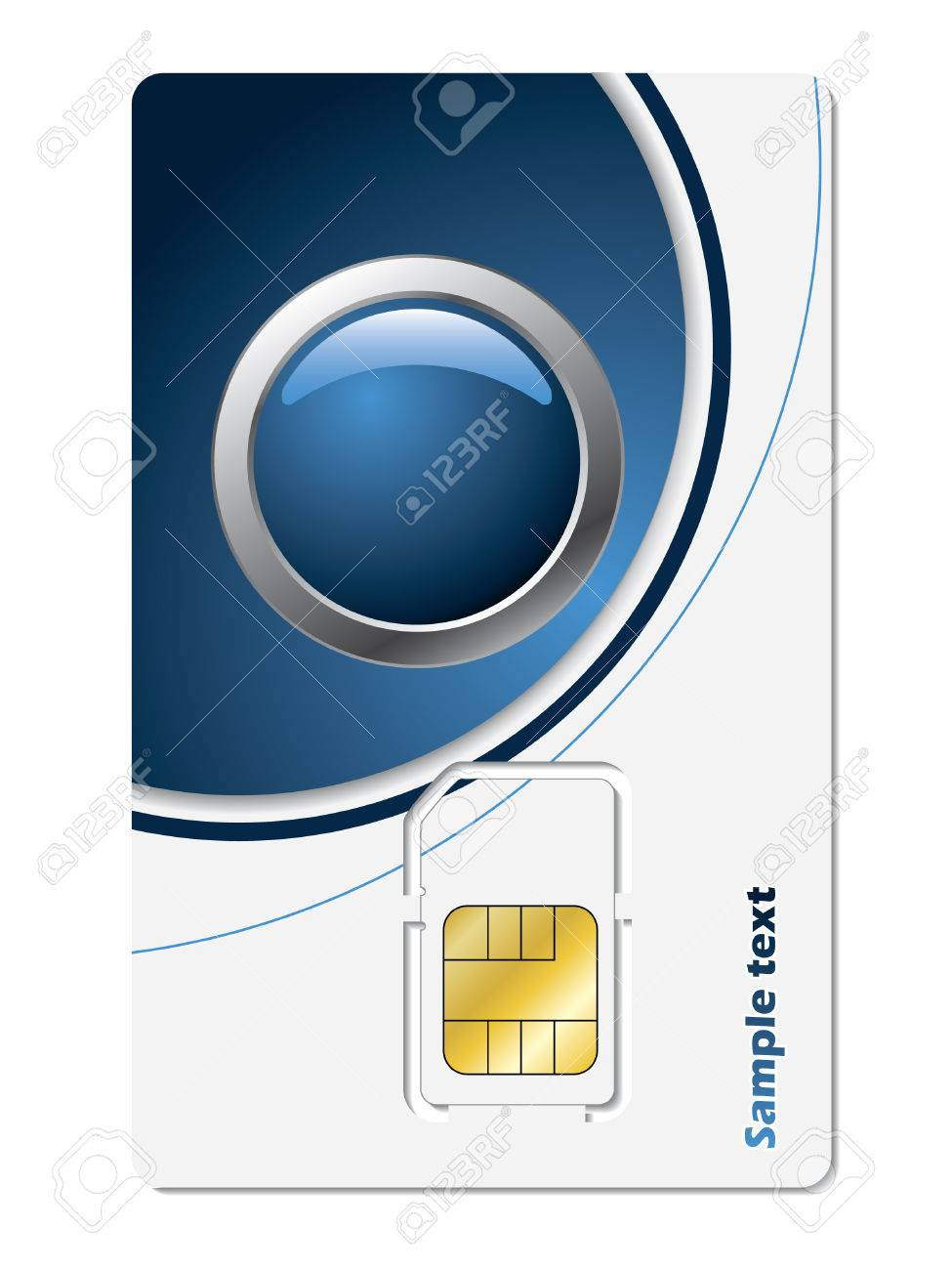 Sim card with abstract design Stock Vector - 6919165