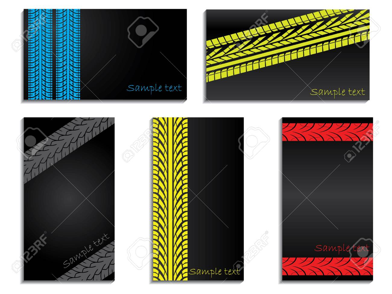 Tracked color business card set Stock Photo - 7272296