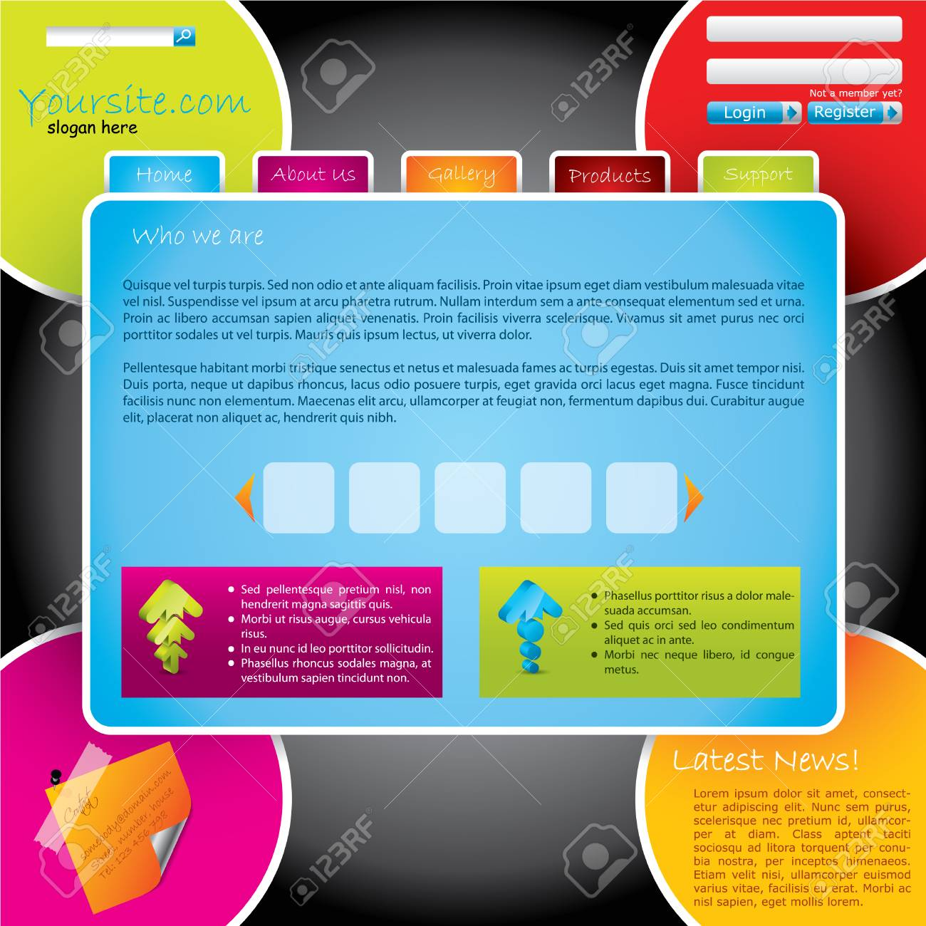 Colorful design web template Stock Vector - 7748586