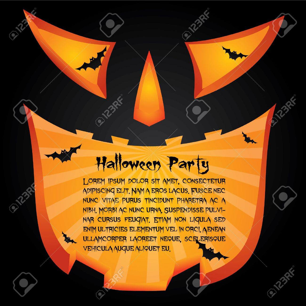 Halloween Party Card Royalty Free Cliparts, Vectors, And Stock ...