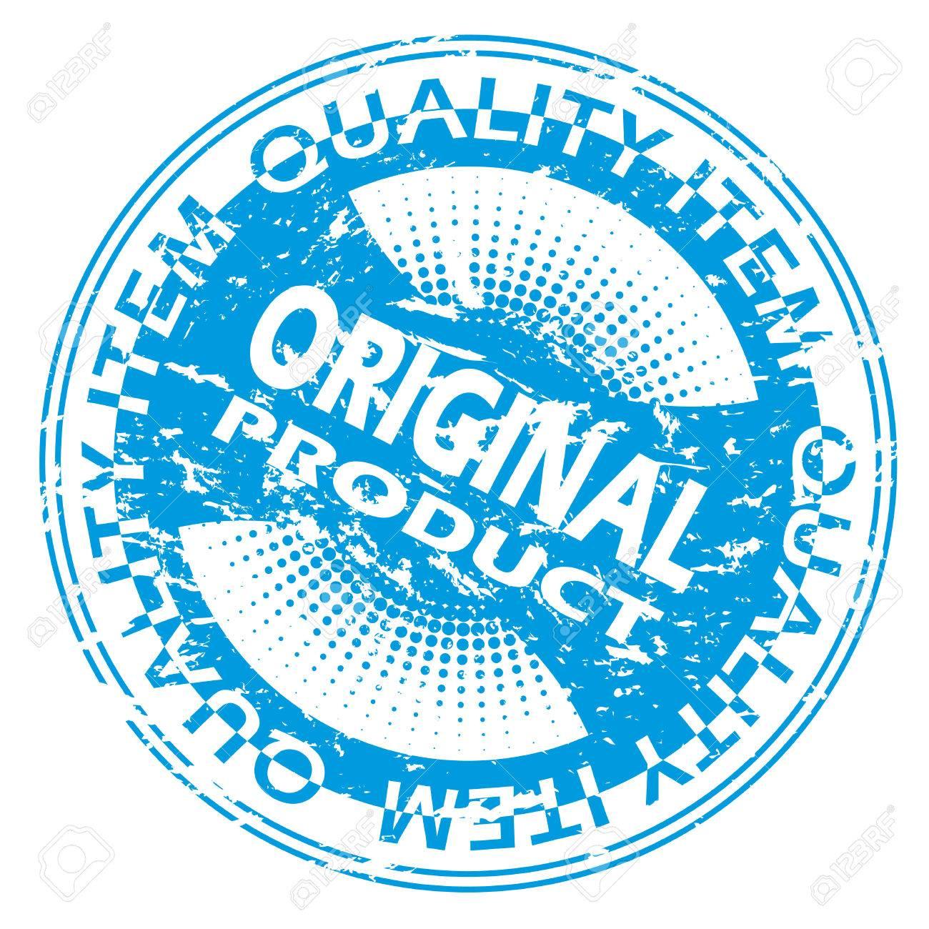 Blue Original product seal design Stock Vector - 8517227