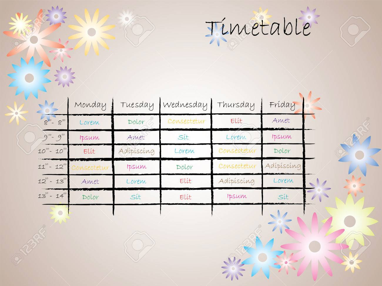 revision schedule template