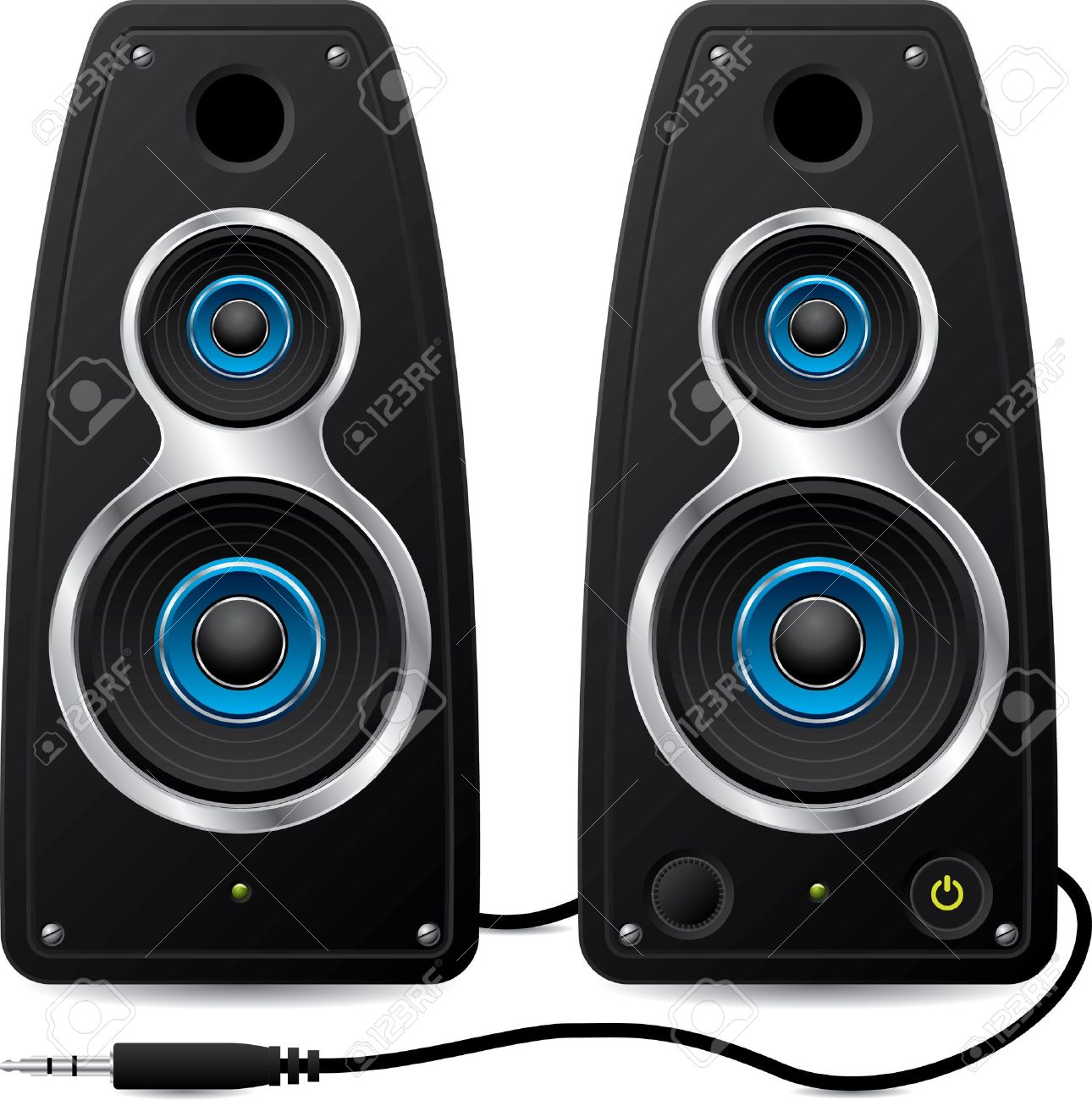 sound system clipart. black stereo speakers with plug stock vector - 9453063 sound system clipart