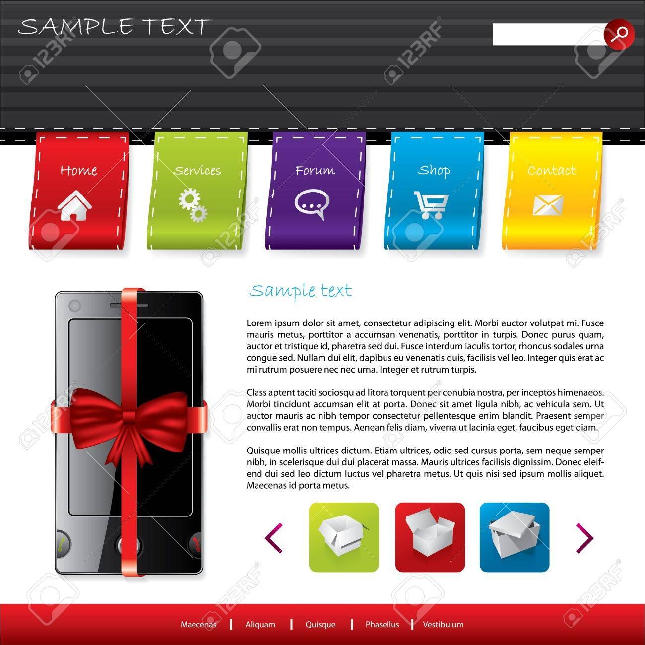 Gift Shop Website Template Design Royalty Free Cliparts, Vectors ...