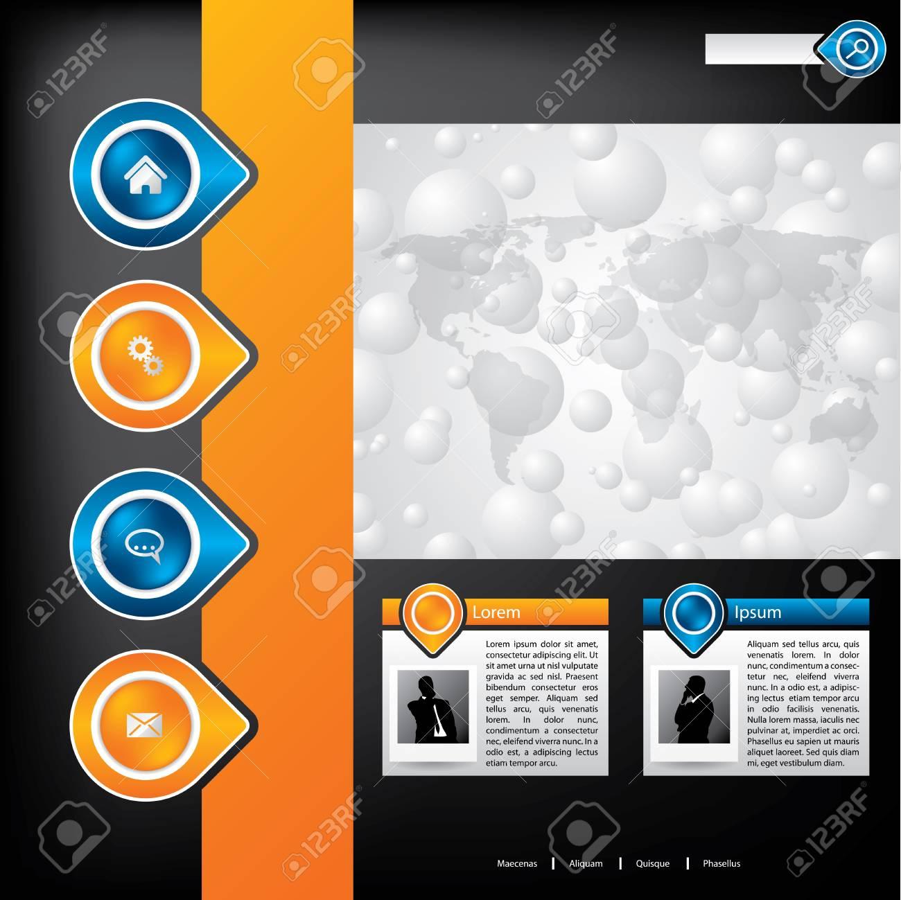 Business website template design with business men Stock Vector - 12134495