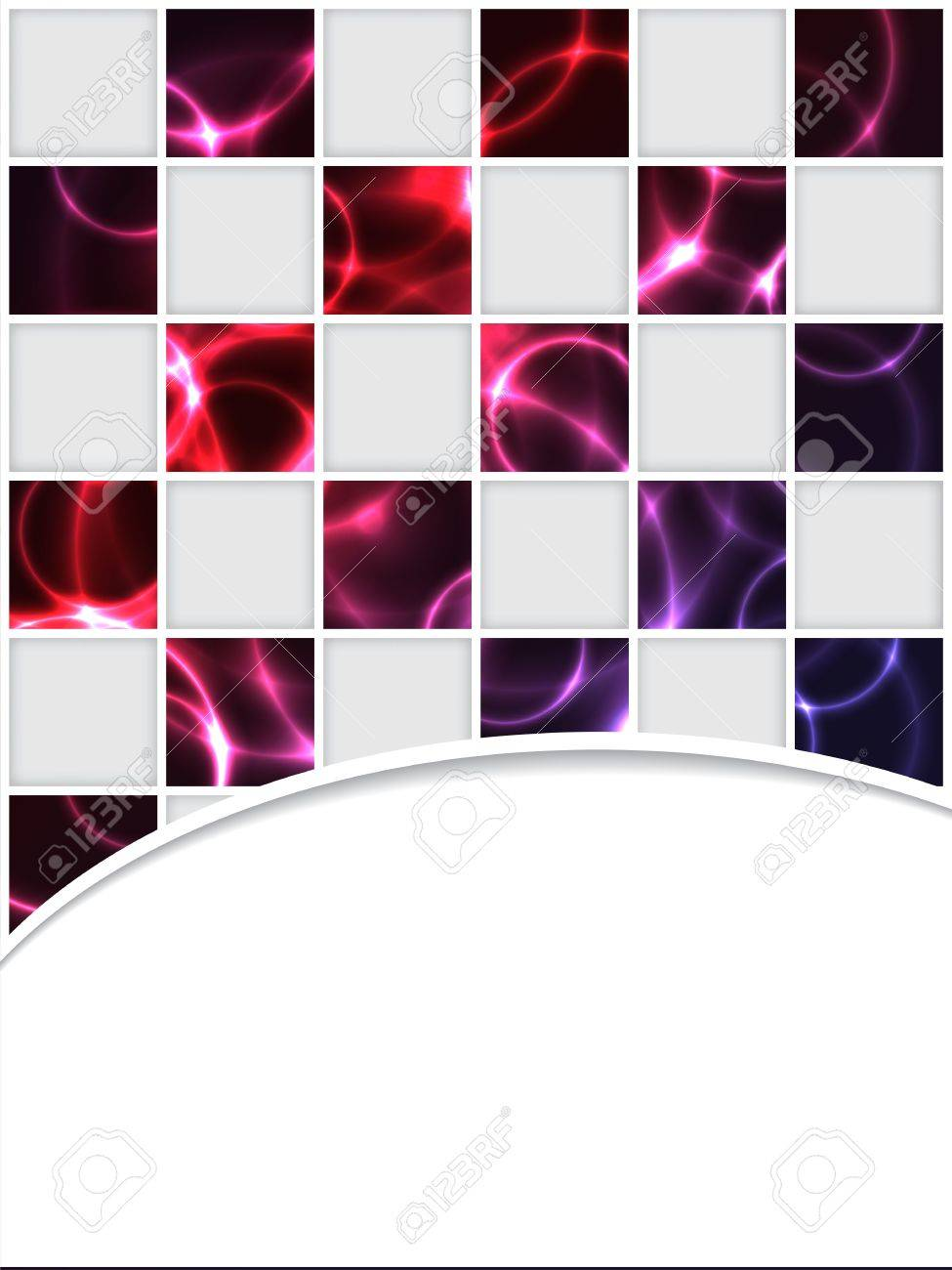 Checkered brochure design with red plasma effect Stock Vector - 13239213