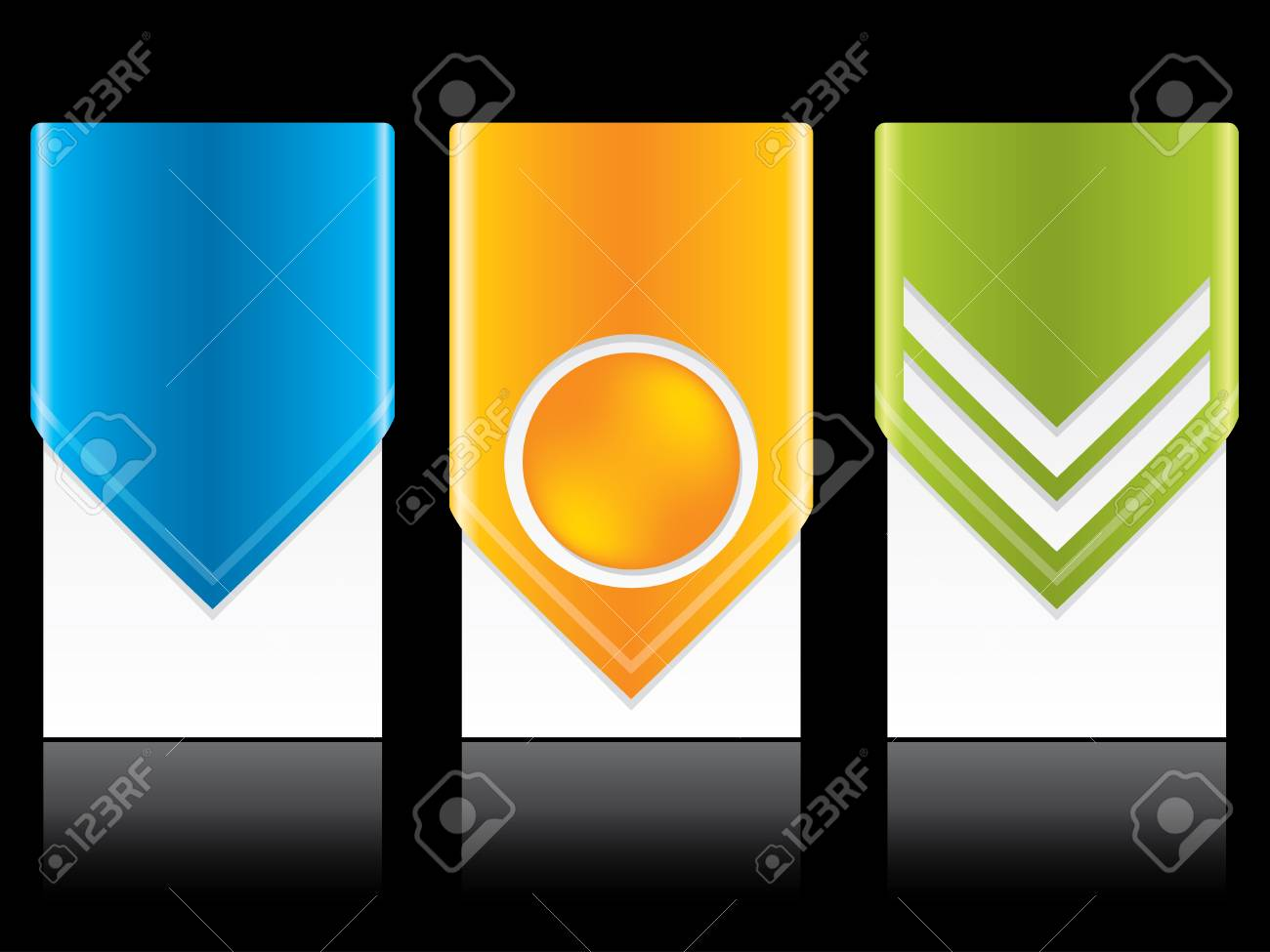 Cool new arrow label set design in different colors Stock Vector - 13239177