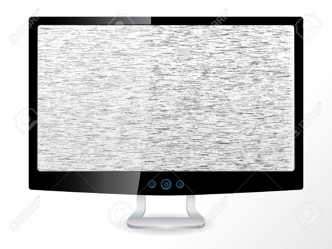 LCD tv/monitor with no signal on white background