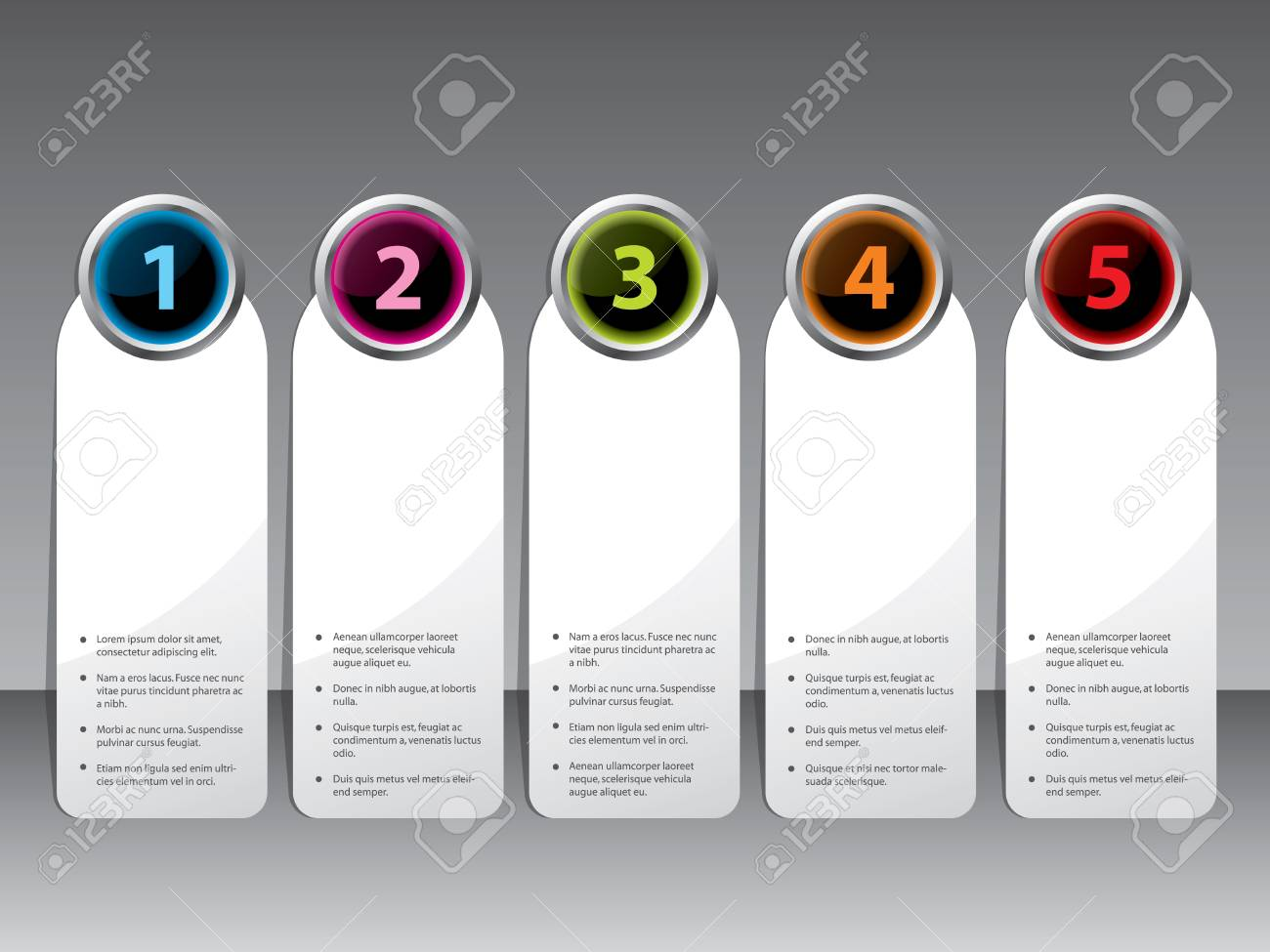 New label set with shiny color buttons Stock Vector - 14197262