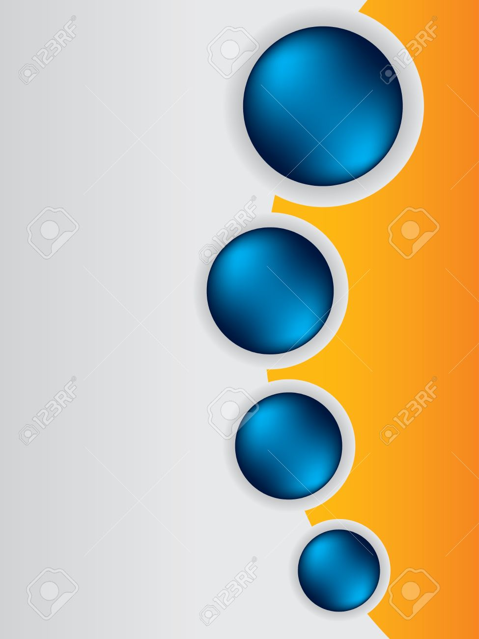 cool brochure design background template with blue buttons royalty