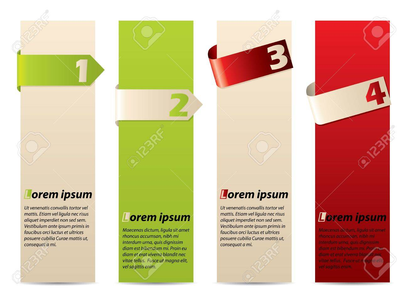 Discrete advertising label set with text and ribbon Stock Vector - 16013273