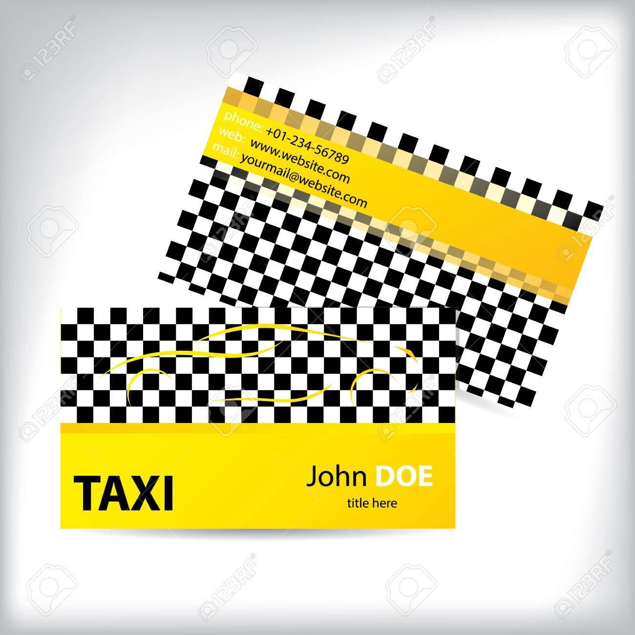 Damiers En Taxi Carte De Visite Conception Ideale Pour Les