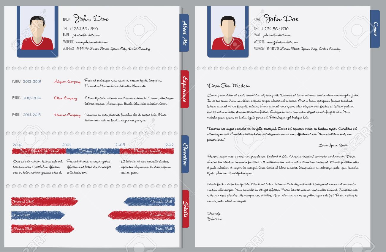 Hand Written Curriculum Vitae With Cover Letter Royalty Free