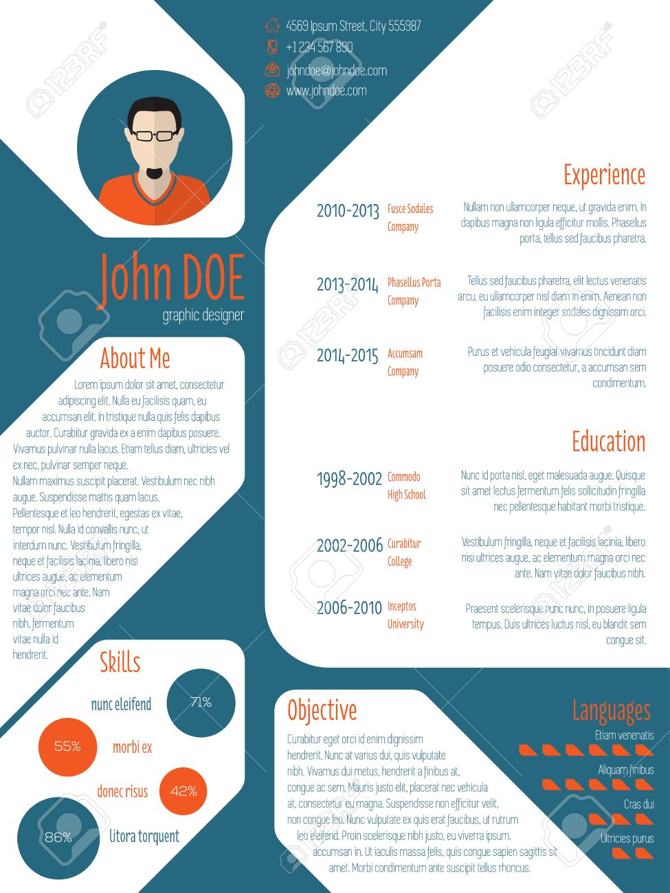 cool new modern cv resume curriculum vitae template photo cool new modern cv resume curriculum vitae template photo and details stock vector 38199517