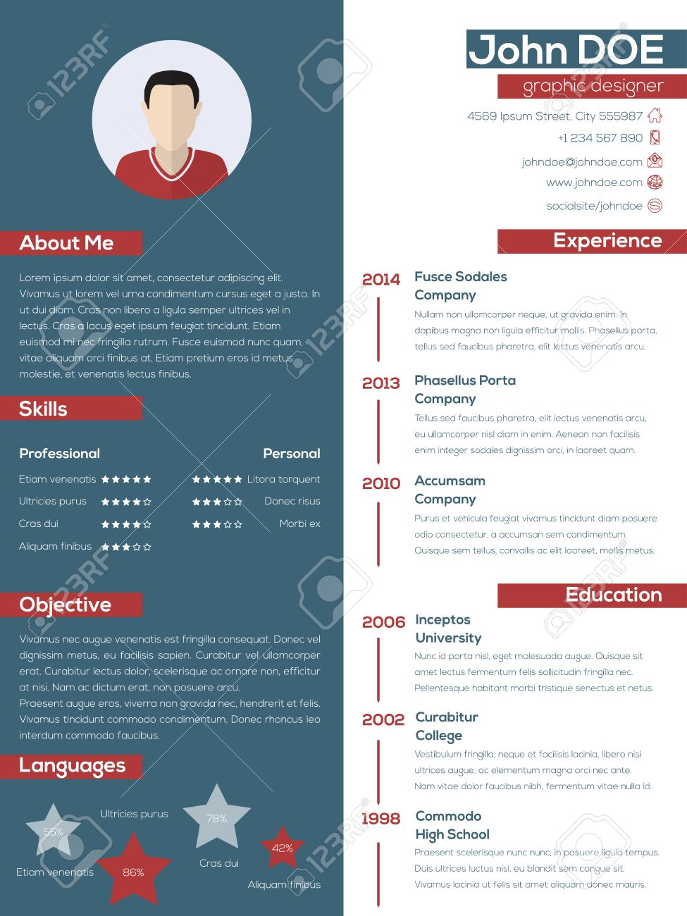 resume Modern Resume Design modern resume cv design with pastel colors and photo royalty free stock vector 38199615
