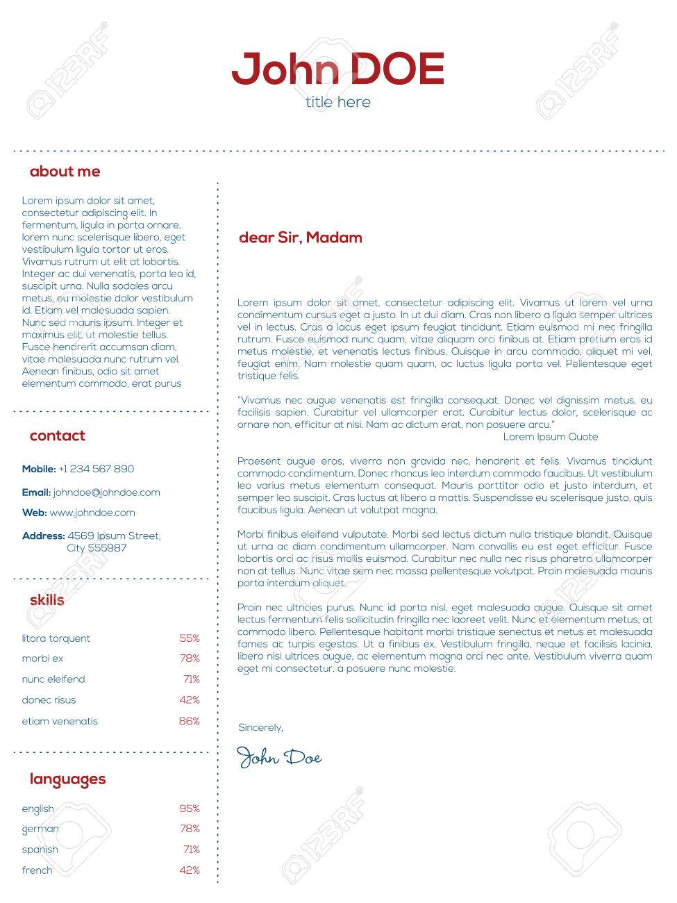 Simple Cover Letter For Resume] smlf resume design simple ...