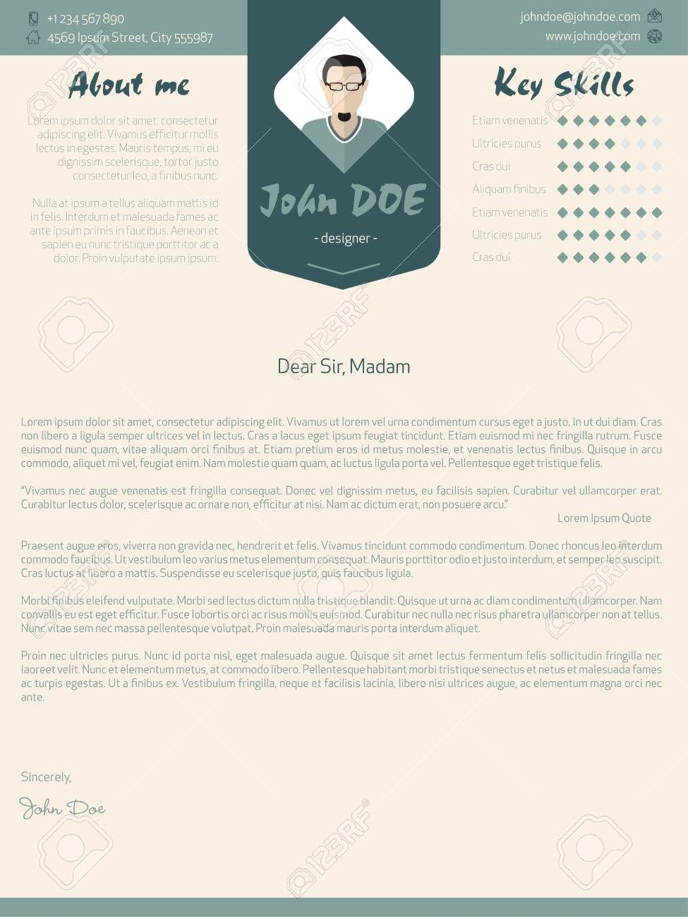 Modern cover letter design with plenty of details royalty free modern cover letter design with plenty of details stock vector 41131852 madrichimfo Image collections